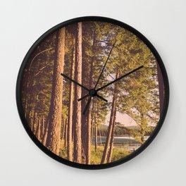 Retro Forest Wall Clock