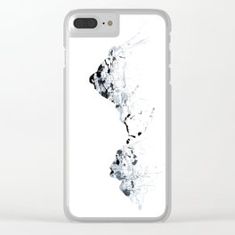 MOUNT MYTHEN MOUNTAINSPLASH grey Clear iPhone Case