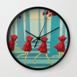 Five Little Riding Hoods I/III Wall Clock