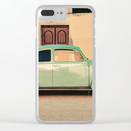 Vintage Beetle (Color) Clear iPhone Case