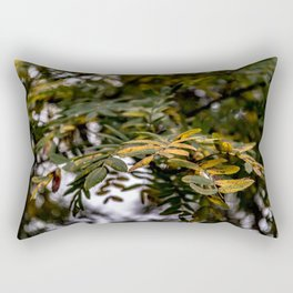 Autumnal leaves on tree Rectangular Pillow