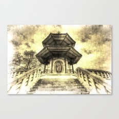 The Pagoda Battersea Park London Vintage Canvas Print