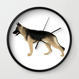 German Shepherd: Tan & Black Wall Clock