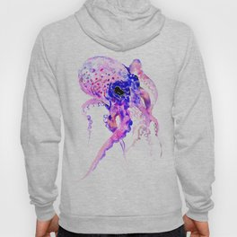 Purple Blue Octopus artwork Hoody