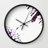 mass effect Wall Clocks featuring Mass Effect 100% Readiness by Fabio Castro