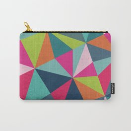 Geometric Triangle Pattern  - Spring Color Palette - Carry-All Pouch
