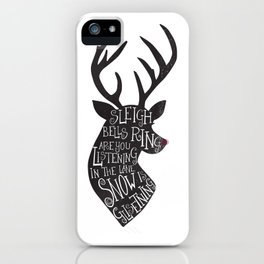 Walking In A Winter Wonderland Reindeer iPhone Case