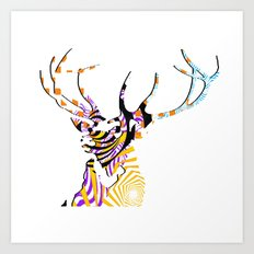 Mr Stag Art Print