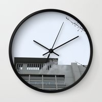 building Wall Clocks featuring Building by RMK Creative