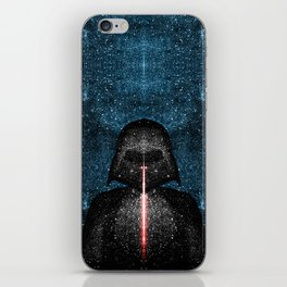 Darth Vader with Lightsaber in Galaxy iPhone Skin