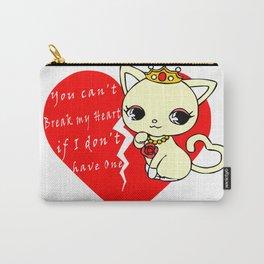 Cat Princess Broken Heart Carry-All Pouch