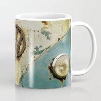 vw Mugs featuring VW Rusty by Alice Gosling