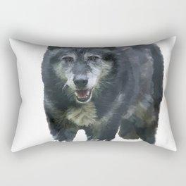 Timber Wolf watercolor painting Rectangular Pillow