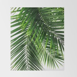Palm Leaves #3 Throw Blanket