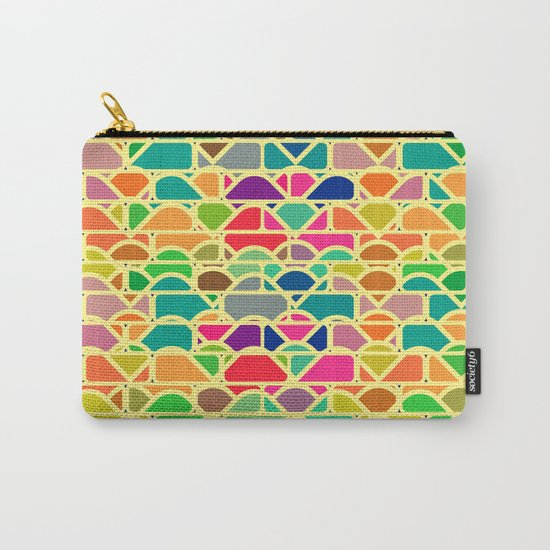Bricks and waves in bright colors Carry-All Pouch
