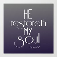 bible verse Canvas Prints featuring Bible Verse Typography by Quote Life Shop