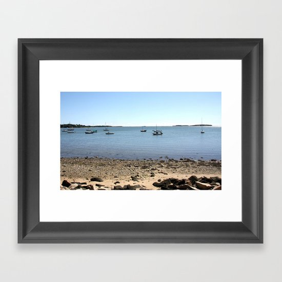 Sailboats In Chatham, Cape Cod Framed Art Print