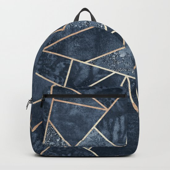 Soft Dark Blue Stone Backpack