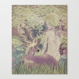Diana, my deer Canvas Print
