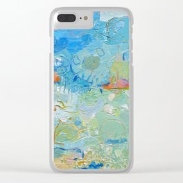 Drifting Clouds over the Landscape Clear iPhone Case