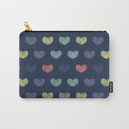 Colorful Cute Hearts Carry-All Pouch