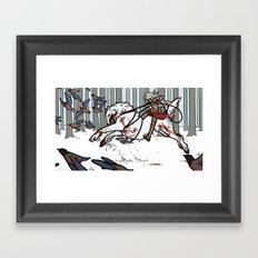 The Wolf Tamer Framed Art Print
