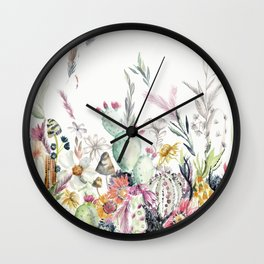 Santa Fe Cactus Love Wall Clock