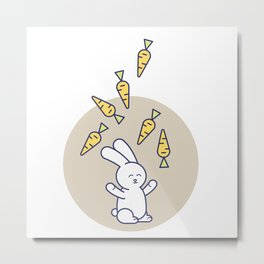 cute bunny Metal Print