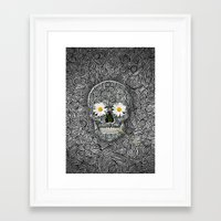 calavera Framed Art Prints featuring Calavera by AkuMimpi