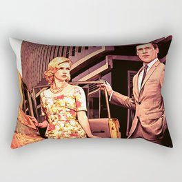 Betty & Don Draper from Mad Men - Painting Style Rectangular Pillow