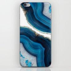 Blue Agate iPhone & iPod Skin