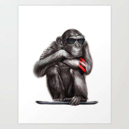 Genius Ape Art Print