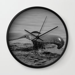 in the waves Wall Clock
