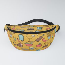 Food Frenzy yellow Fanny Pack