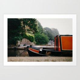 Moored Barge Art Print