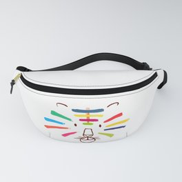 Tiger With Colorful Stripes Fanny Pack