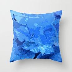 Hydrangea cut out Throw Pillow