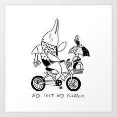 No Feet No Problem Art Print