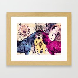 the nature love plastic idiots Framed Art Print