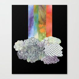 Clouds & Rainbow Canvas Print