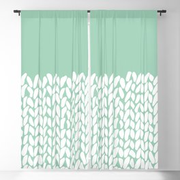 Half Knit Mint Blackout Curtain