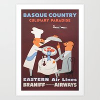 Basque Country culinary paradise Art Print