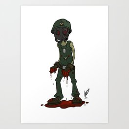 infected soldier Art Print