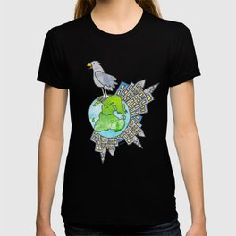 "Happy Alien Earth Bird (from the book, ""You, the Magician"") T-shirt"