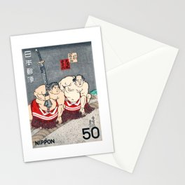 1978 JAPAN Sumo Wrestlers Postage Stamp Stationery Cards