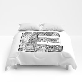 Cutout Letter E Comforters