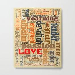 Words of Love Metal Print