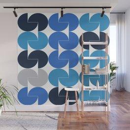 GeoMetria Blue Wall Mural