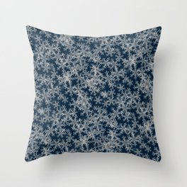 Deep Blue Snow Throw Pillow