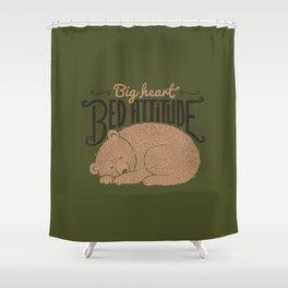 Big Heart Bed Attitude Shower Curtain